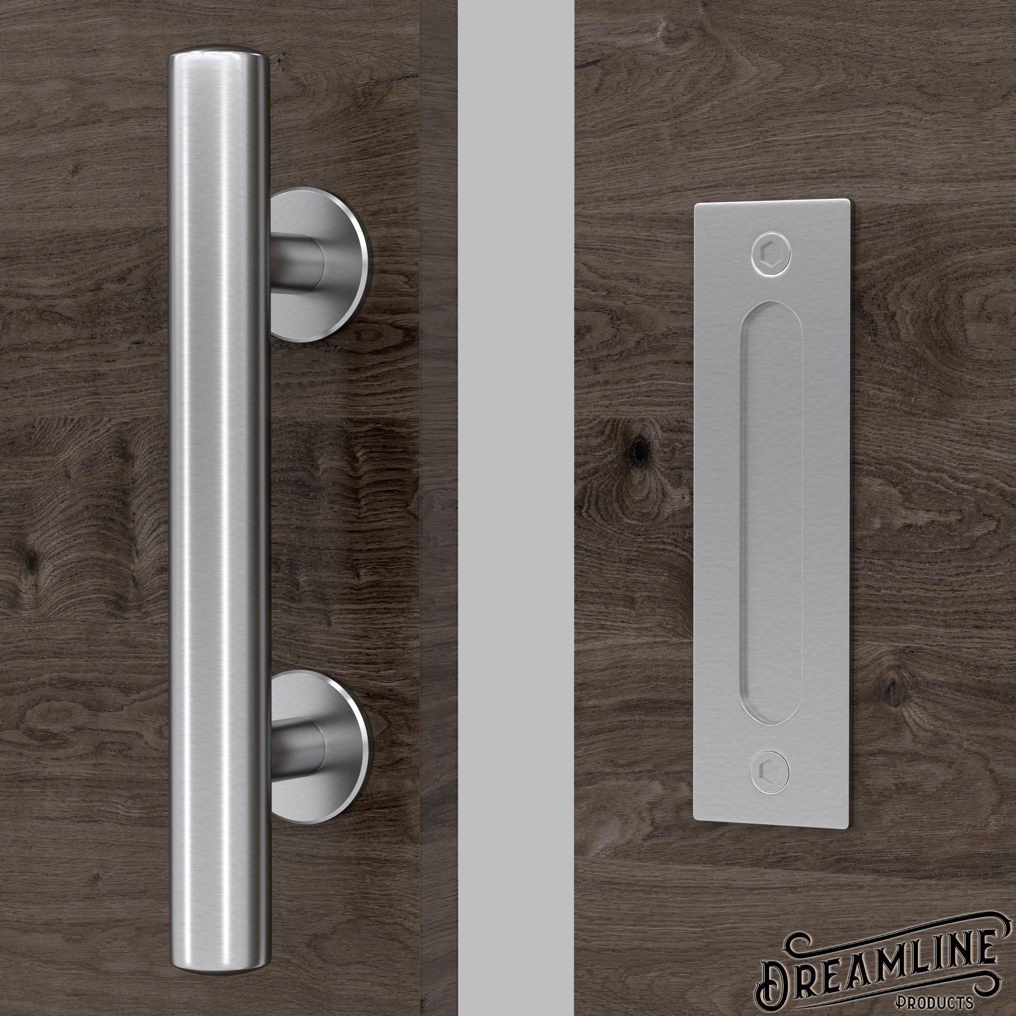 Premium acero inoxidable moderno granero puerta mango 12