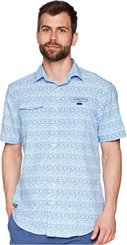 Fish Hook Wave Short Sleeve Harbor Shirt