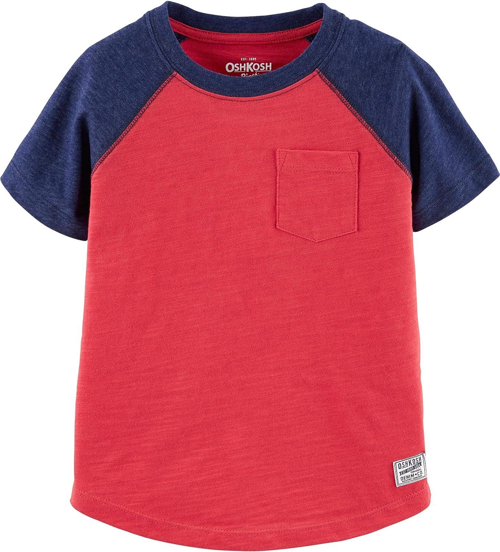 OshKosh B'Gosh Baby Boys' Toddler Short Sleeve Raglan Shirt