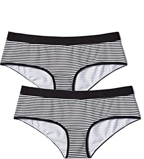 094e318e4ee Amazon Brand - Iris & Lilly Women's Cotton Hipster Underwear with Contrast  Waistband, ...