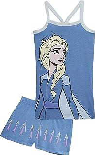 Frozen Pijama Niña Verano, Ropa de Niña con Las Princesas Anna y Elsa, Conjuntos de 2 Piezas Camiseta y Pantalones Cortos Niña, Regalos para Niñas 2-6 Años