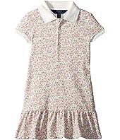 Polo Ralph Lauren Kids Floral Stretch Mesh Polo Dress (Toddler)