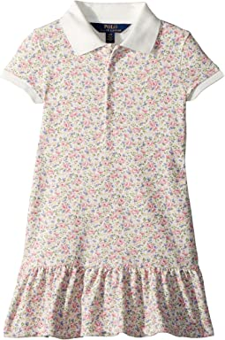 Polo Ralph Lauren Kids Floral Stretch Mesh Polo Dress (Toddler)