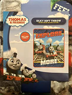 Thomas and Friends Explore More Silky Soft Throw (40 in X 50 in) Soft and Cuddly!