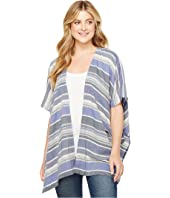 Dylan by True Grit - Nautical Indigo Stripes Side Slit Jacket