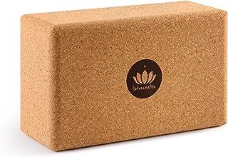 Lotuscrafts Mattoncini Yoga Supra Grip in Sughero - Prodotto Ecologico - Sughero Naturale al 100% Proveniente dal Portogallo - Blocco Yoga Sughero - Blocchi Yoga - Mattoni Yoga - Cork Yoga Block