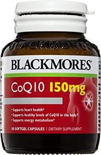 BLACKMORES CoQ10 150mg - 30 Capsules - Maintain Healthy Heart Function - Cardiovascular Support, Oxygen Uptake, Coenzyme Q10