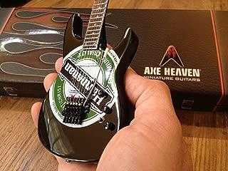 Jeff Hanneman Green Heineken Logo Miniature Guitar Replica Collectible