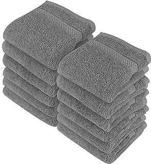 Utopia Towels - 12 luksusowych myjek, 30 x 30 cm, szare - 700 GSM 100% bawełna Najwyższej jakości flanelowe ściereczki do ...