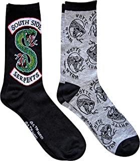 Hyp Riverdale South Side Serpents Men's Crew Socks 2 Pair Pack