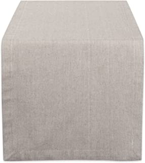 DII CAMZ38733 Stone Solid Chambray, Table Runner 14x72, Chambray Stone
