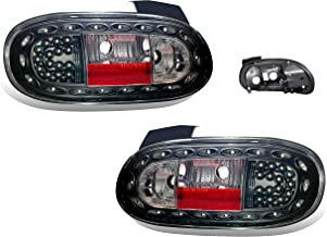 SPPC Led Taillights Black Assembly Set For Mazda Miata - (Pair) Driver Left and Passenger Right Side Replacement