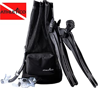 Athletico Scuba Diving Bag - XL Mesh Travel Backpack for Scuba Diving and Snorkeling Gear & Equipment - Dry Bag Holds Mask, Fins, Snorkel, and More