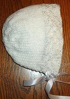 Integrity Designs Heirloom Keepsake Bonnet for Baptism/Christenings, White, Hand Knitted, 0-3 Month Size