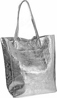 Milenastely Echt Leder Damentasche Shopper Schultertasche Handtasche