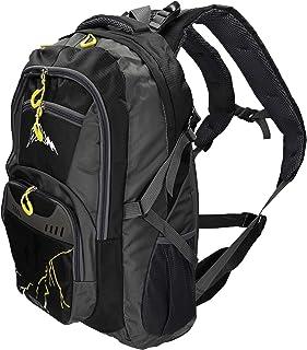 Mochila Unisex para Viaje Senderismo Camping MÜNCHEN con 4 Bolsillos Volumen 37 litros Color Negro