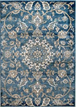 MADISON COLLECTION 405 Vintage Distressed Oriental Persian Blue Area Rug Clearance Soft and Durable Pile. Size Option (5), 5'x7'