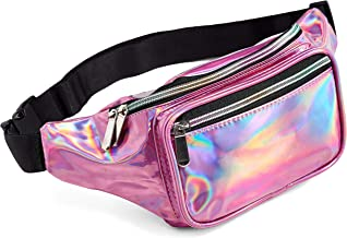 Pink Holographic Fanny Pack Victoria Secret For Women Grils Festival Rave Fanny Pink