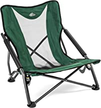 Cascade Mountain Tech Compact Low Profile Outdoor Folding Camp Chair with Carry Case (Renewed)