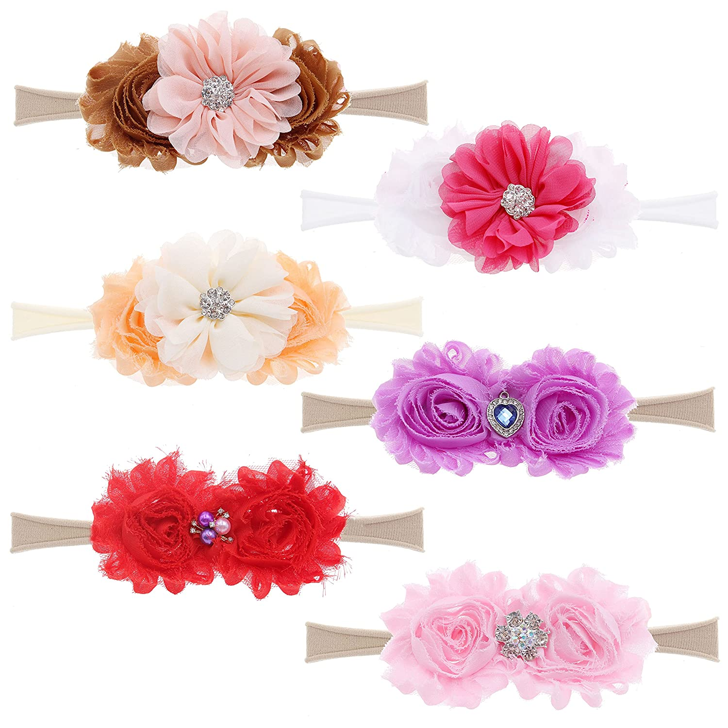 6PCS Don't miss the campaign Baby Headbands Super intense SALE Nylon Hairbands Bows Hair Elastics for