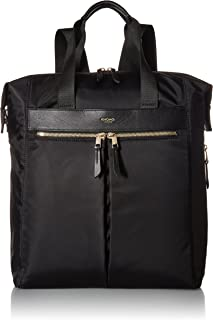 """Knomo Mayfair Chiltern, 15.6"""" Lightweight Water-Resistant Laptop Tote Backpack, with Device Protection, Suitcase Slip Pocket, RFID Pocket and KNOMO ID, Black"""