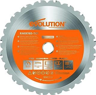 7-1/4 Inch Circular Saw Blade - Evolution Saw Multipurpose RAGE Blade - RAGEBLADE