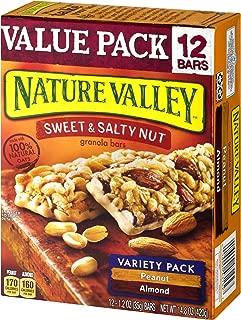 Nature Valley Granola Bars, Sweet & Salty Bar, 100% Natural Oats, Variety Pack, 12 Bars
