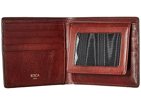 Bosca Dolce Collection - Credit Wallet w/ I.D. Passcase Dark Brown For Sale Buy Authentic Online vXy37x
