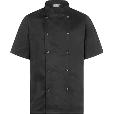 Proluxe Professional Chef Jacket - Short Sleeve - Unisex - Modern Fit - White, Black & Grey Available - Sizes XS to 4XL