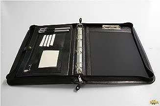 2/anelli formato A4/con appunti e manico Nero Noda ecopelle Zippedo portfolio Business conferenza cartella portadocumenti