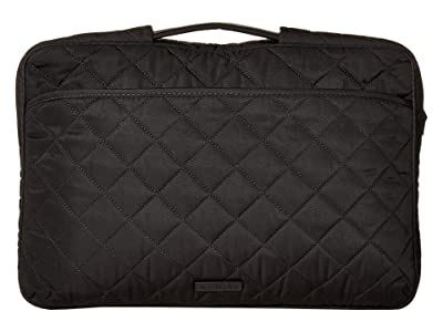 Vera Bradley Performance Twill Laptop Organizer (Black) Bags