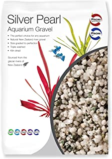 Pisces 11 lb Silver Pearl Aquarium Gravel, Medium (AM-SILVER010)