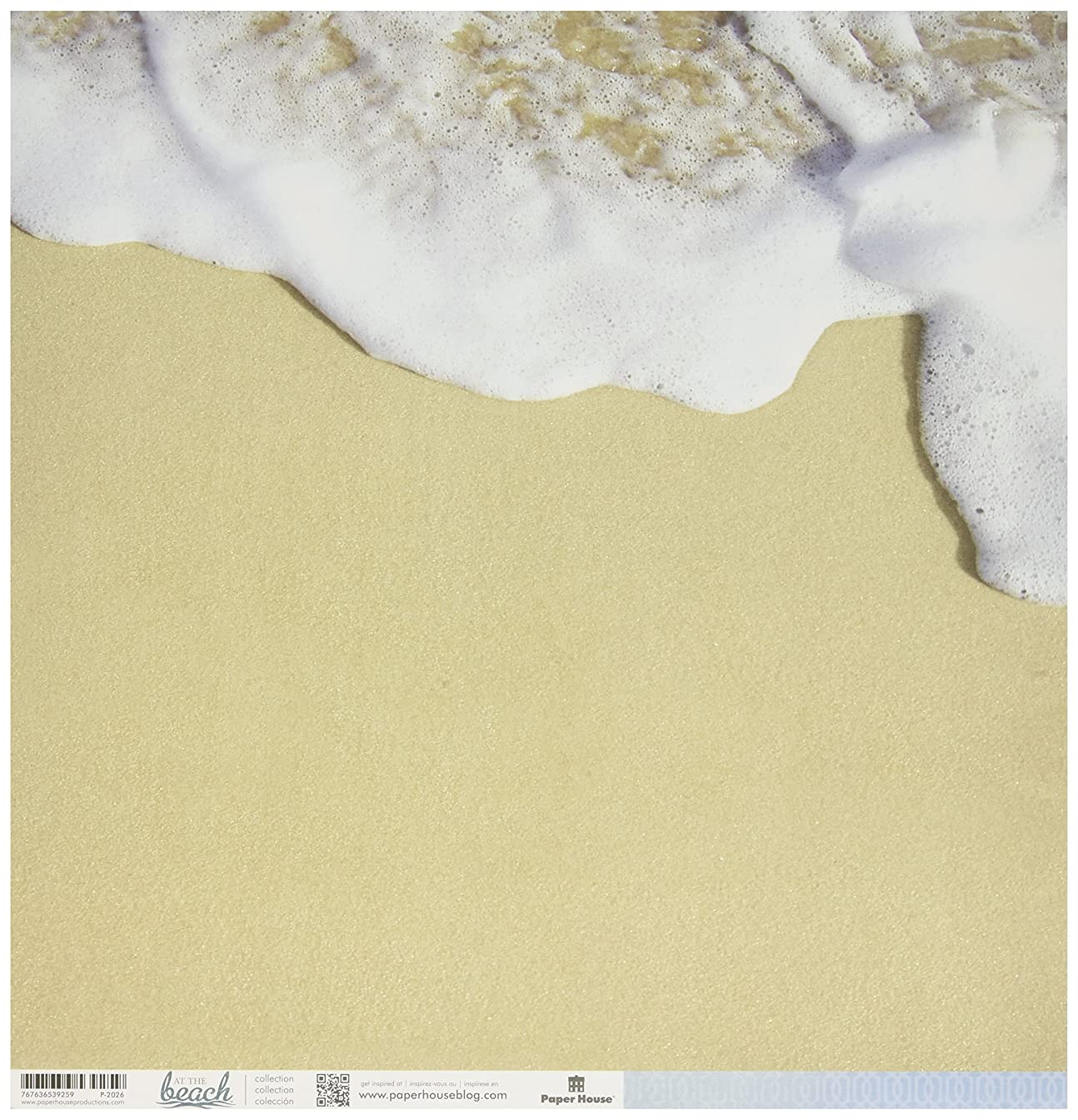 Paper House Productions P-2026E Double Sided Seashore Paper (15 Pack), 12