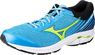 MIZUNO J1GC183135 Wave Rider 22 Men's Running Shoes, Azure Blue/Green/Black