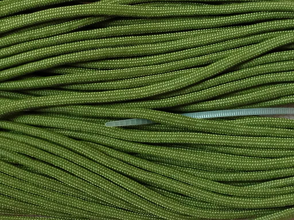 100FT Type III Moss Paracord 550 Parachute Cord 7 Strand Made In USA