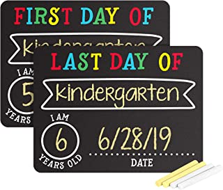 Pearhead First and Last Day of School Photo Sharing Chalkboard Signs; The Perfect Back to School Chalkboard Sign to Commemorate The First Day of School