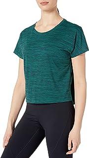 Core 10 Amazon Brand Women's Jacquard Mesh T-Shirt