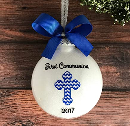 First Communion Ornament, Personalized First Communion Gifts for Boys, First Holy Communion Gifts