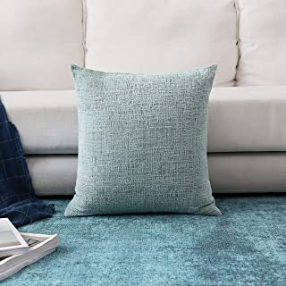 Home Brilliant Large Throw Pillow Cover Chenille Velvet Decorative Cushion Cover for Patio, 66x66cm (26inch), 1 Piece, Teal