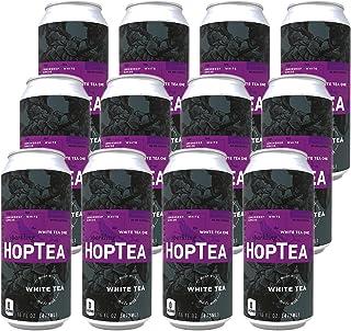 HOPLARK Sparkling HopTea - The White Tea One (12 16oz Cans) - Craft Brewed Iced Tea - Organic, Gluten-Free, Non GMO, Zero ...