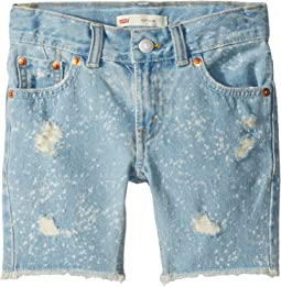 Levi's® Kids - 511 Slim Fit Destroyed Denim Cut Off Shorts (Little Kids)