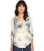 Lucky Brand - Open Floral Printed Top
