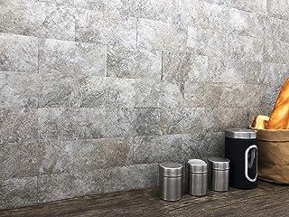 Artesania Muro Peel and Stick Stone Wall Tiles Bricks, DIY Kitchen Bathroom Backsplash, Fire Proof, Water Proof, Anti-Mold...