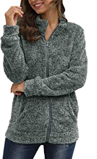For G and PL Women`s Long Sleeve Fleece Full Zip Jacket