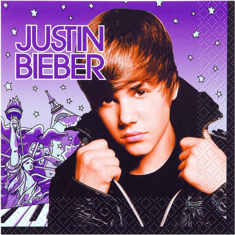 Justin Bieber Luncheon Napkins [16 Per Pack]