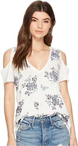 Lucky Brand - Floral Embroidered Tee