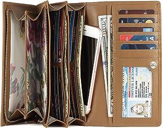 Mou Meraki Women RFID Blocking Real Leather Bifold Wallet-Clutch For Women-Shield Against Identity Theft