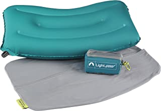 Lightspeed Outdoors Inflatable Travel & Camp Pillow, Teal/Grey