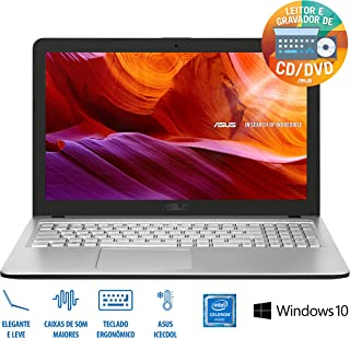 "Notebook Asus Vivobook X543MA-GO595T Intel Celeron 4GB 500GB 15, 6"" W10 - Prata, ASUS, X543MA-GO595T, CELERON DUAL CORE, 4 GB RAM, HD 500(GB) GB, LED, windows_10"