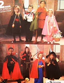 Simplicity 2 Hour Express Costume 8004 Devil, Witch, Princess, Wizard, Dracula, Robin Hood, Snow White, Friar